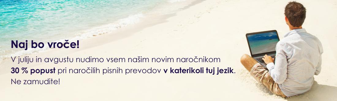 poletni popust prevajanje