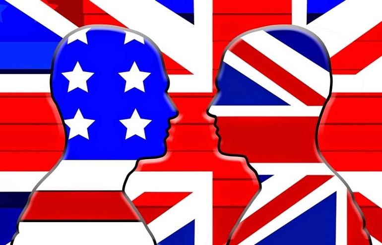 ameriska ali britanska angelscina