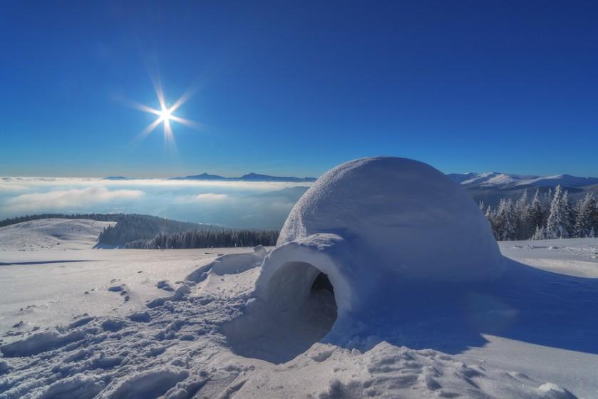 eskimi in sneg